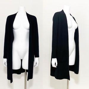 Eileen Fisher Long Open Front Cardigan Pockets